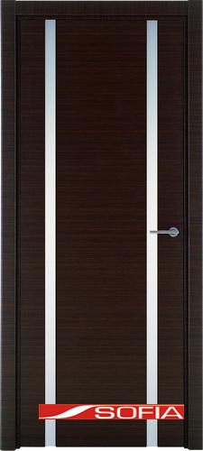 Межкомнатная шпонированная дверь SOFIA Орех каналетто (19) 19.02 600 со стеклом